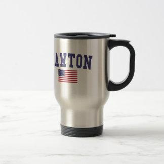 Lawton US Flag Stainless Steel Travel Mug