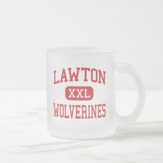 Lawton - Wolverines - High - Lawton Oklahoma Frosted Glass Mug
