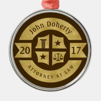 Lawyer 2017 Attorney At Law | Decorative Golden Christmas Ornament