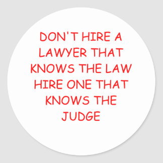 LAWYER and the judge Classic Round Sticker