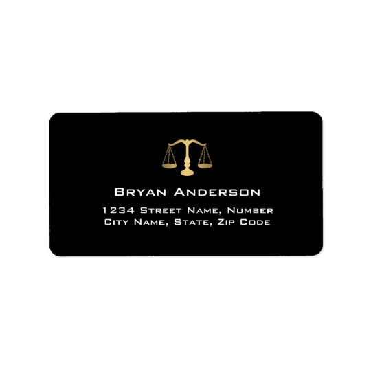 Lawyer Attorney Address Label