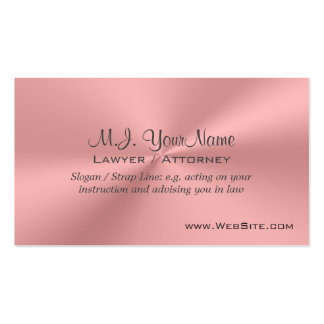 Lawyer / Attorney luxury pink chrome-effect Pack Of Standard Business Cards