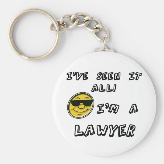 Lawyer Basic Round Button Key Ring