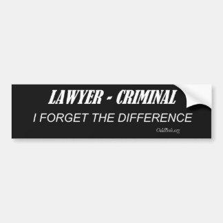 Lawyer Car Bumper Sticker