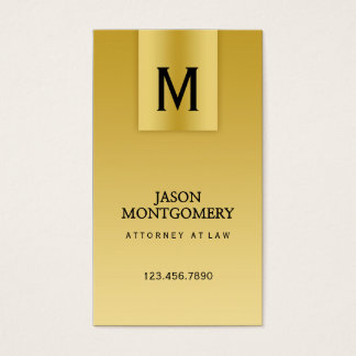Lawyer business card design Gold