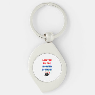 Lawyer by Day Bowler by Night Key Ring