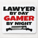 Lawyer by Day Gamer by Night Mousepads