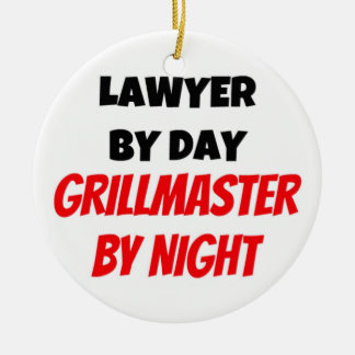 Lawyer by Day Grillmaster by Night Christmas Ornament