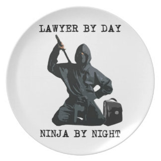 Lawyer By Day, Ninja By Night Plate