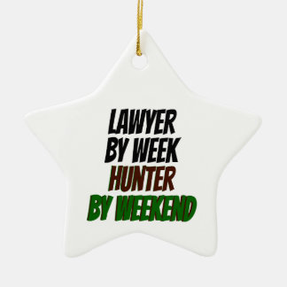 Lawyer by Week Hunter by Weekend Ceramic Star Decoration
