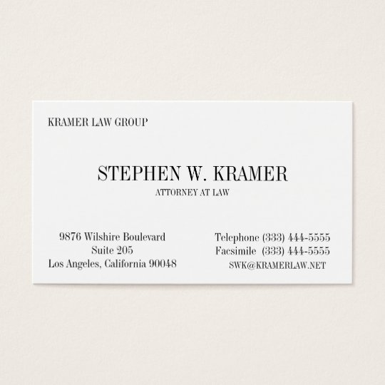 Lawyer Card