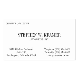 Lawyer Card Pack Of Standard Business Cards