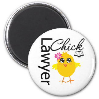 Lawyer Chick 6 Cm Round Magnet