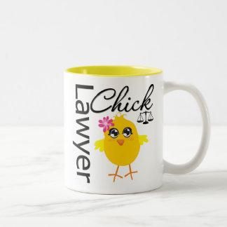 Lawyer Chick Two-Tone Mug