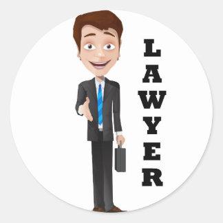 """Lawyer"" Classic Round Sticker"