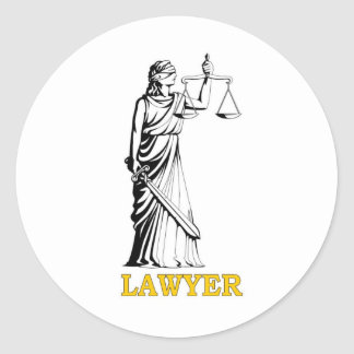 LAWYER CLASSIC ROUND STICKER