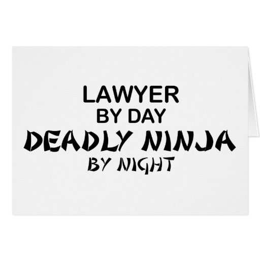Lawyer Deadly Ninja by Night Cards