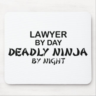 Lawyer Deadly Ninja by Night Mouse Mat