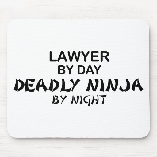 Lawyer Deadly Ninja by Night Mouse Pads