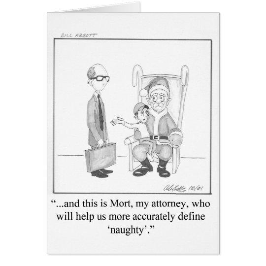 Lawyer Humour Christmas Greeting Card