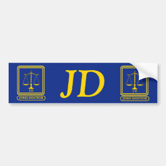 Lawyer J.D. Bumper Sticker