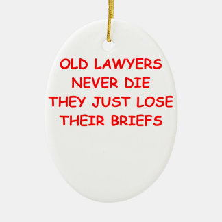 lawyer joke ceramic oval decoration