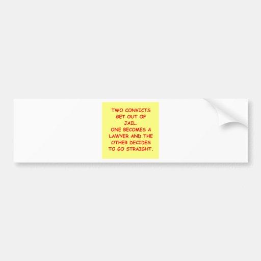 lawyer joke gifts and t-shirts bumper sticker