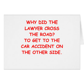 lawyer joke gifts and t-shirts greeting card