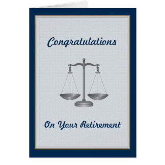 Lawyer Judge Custom Retirement Card Greeting Cards