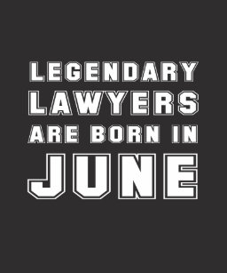 Lawyer June Birthday Gift Born In Hoodie