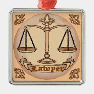 Lawyer Justice Scales Christmas Ornament