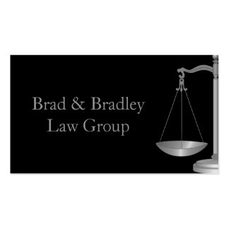 Lawyer Law Attorney Court Scale Consultant Judge Business Cards