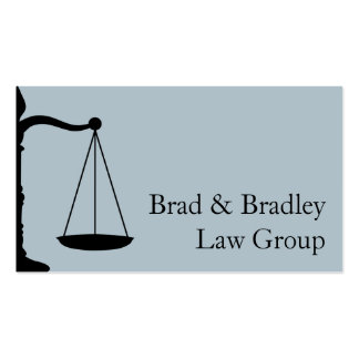 Lawyer Law Attorney Court Scale Consultant Judge Pack Of Standard Business Cards
