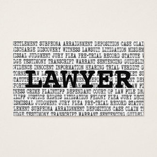 Lawyer Legal Words Business Card