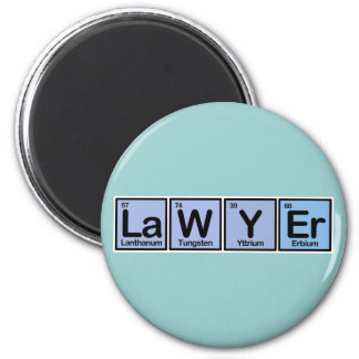 Lawyer made of Elements 6 Cm Round Magnet