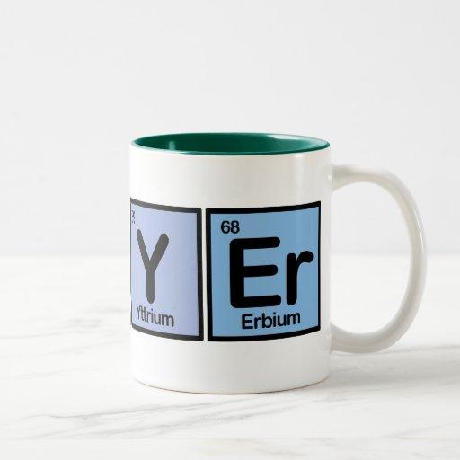 Lawyer made of Elements Mug