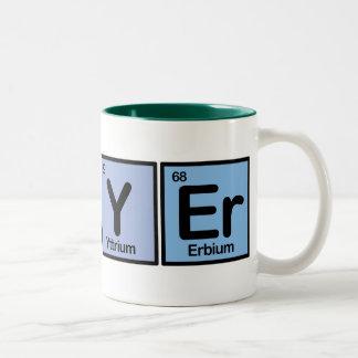 Lawyer made of Elements Two-Tone Mug