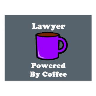 """Lawyer"" Powered by Coffee Postcard"