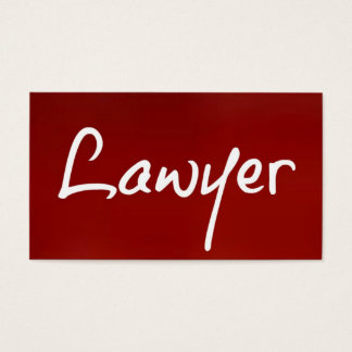 Lawyer Red Business Card