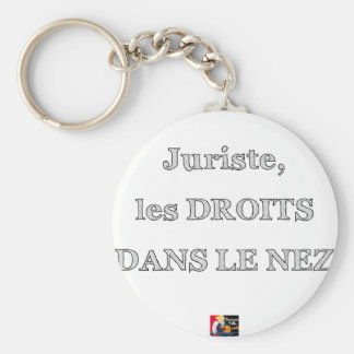 Lawyer, RIGHTS IN the NOSE - Word games Key Ring
