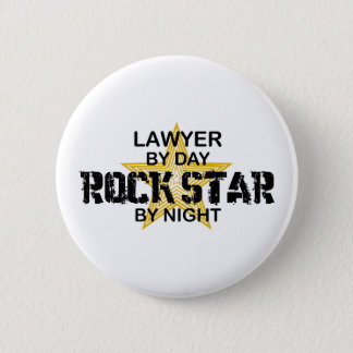 Lawyer Rock Star by Night 6 Cm Round Badge