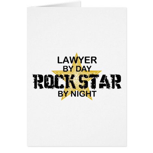 Lawyer Rock Star by Night Cards
