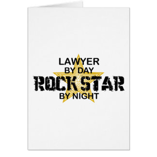 Lawyer Rock Star by Night Greeting Card