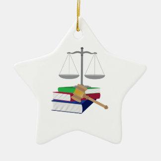 Lawyer Symbols Ceramic Star Decoration