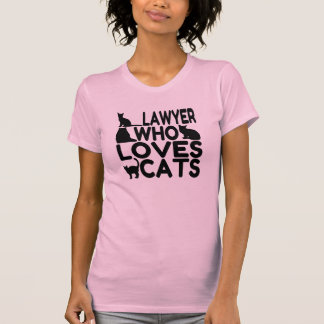 Lawyer Who Loves Cats Tshirt