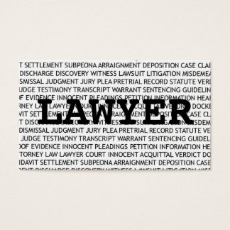 Lawyer Words Business Card