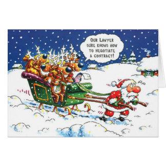 Lawyers Christmas Greeting Card