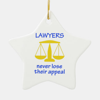 Lawyers Never Lose Their Ceramic Star Decoration