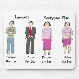 Lawyers vs. Everyone Else Mouse Pad