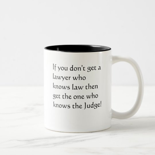 Lawyers who don't know the law Two-Tone coffee